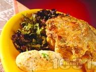 Рецепта Месни солени кексчета с кайма, гъби и ориз на фурна